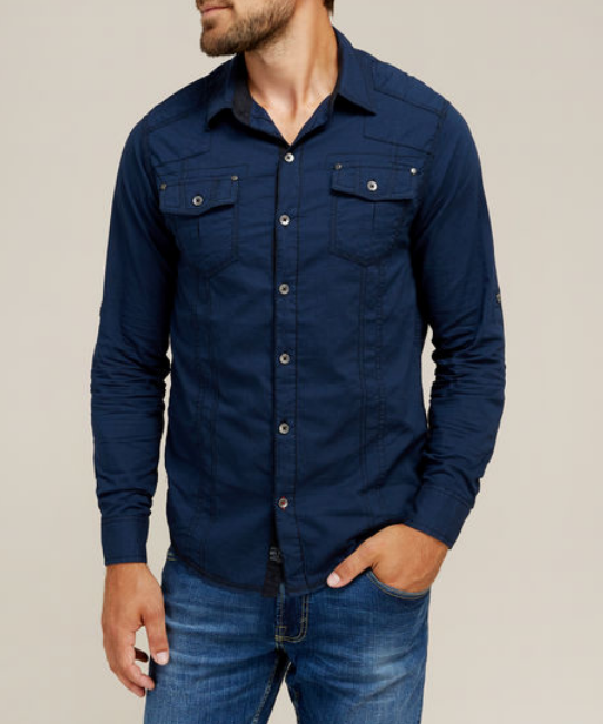Distillery Modern button-down shirt with chest pockets