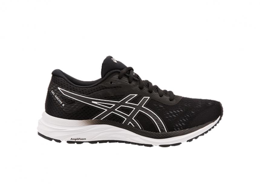 ASICS Women's Gel Excite 6 Running Shoes – Black White