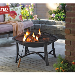 For Living Augusta Wood Burning Fire Bowl