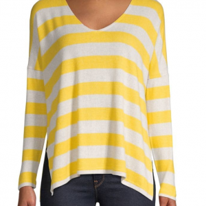Only Striped Long-Sleeve Pullover Top