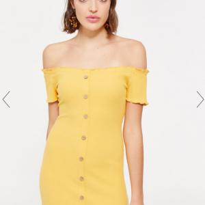 Ribbed Off Shoulder Dress