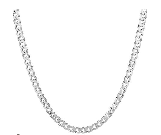 20 Curb Chain In 925 Sterling Silver