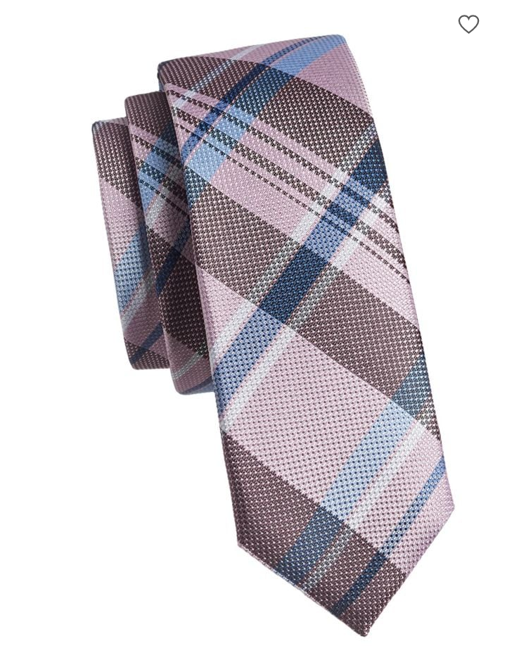 Black Brown 1826 Slim Silk Plaid Tie