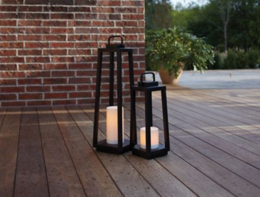 CANVAS Black LED Lantern