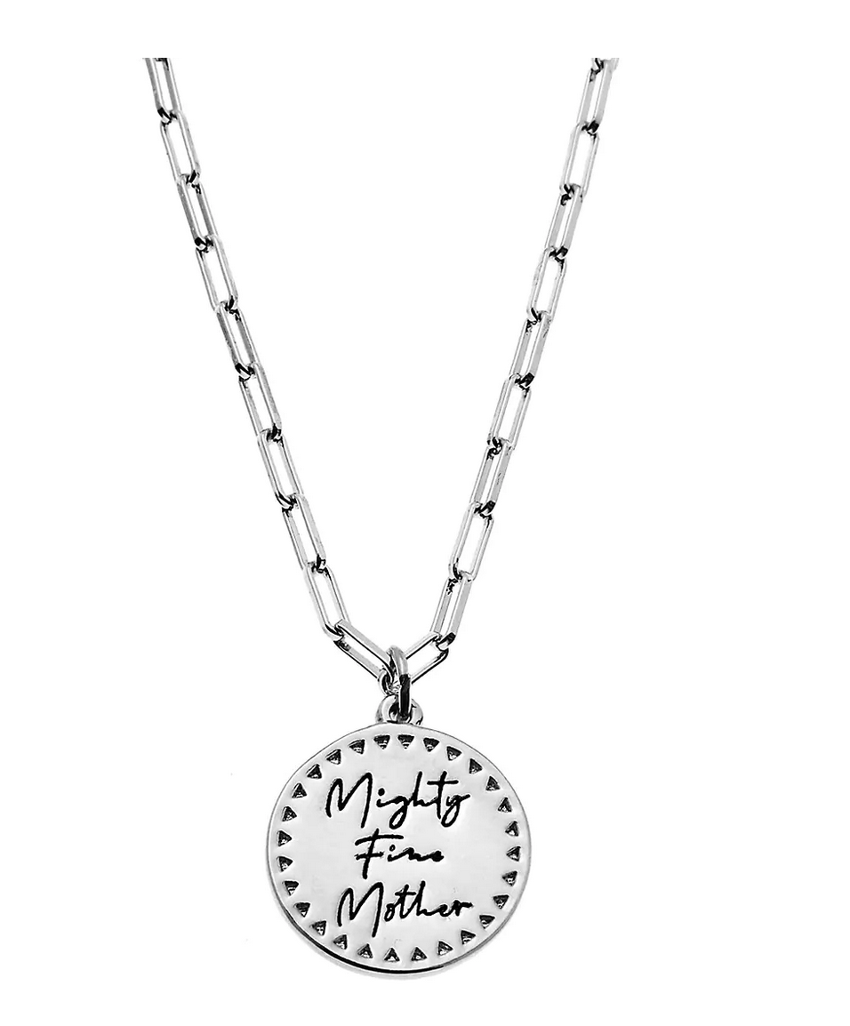 Foxy Actually I Can Mighty Fine Mother Pewter Charm Necklace
