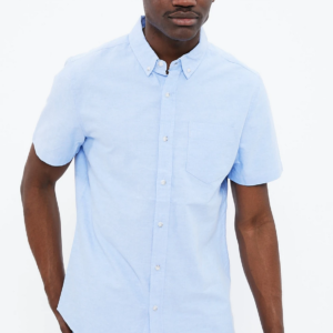 Aeropostale Short Sleeve Basic Oxford Shirt
