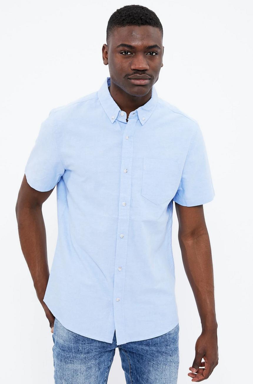 Aeropostale Short Sleeve Basic Oxford Shirt