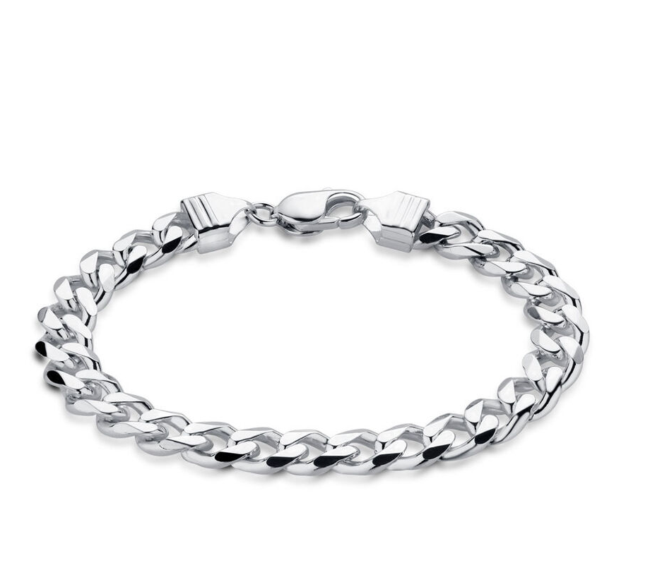 21 cm Curb Bracelet Stainless Steel (8.5)