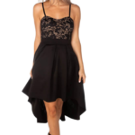 Eclipse High-Low Lace Top Dress