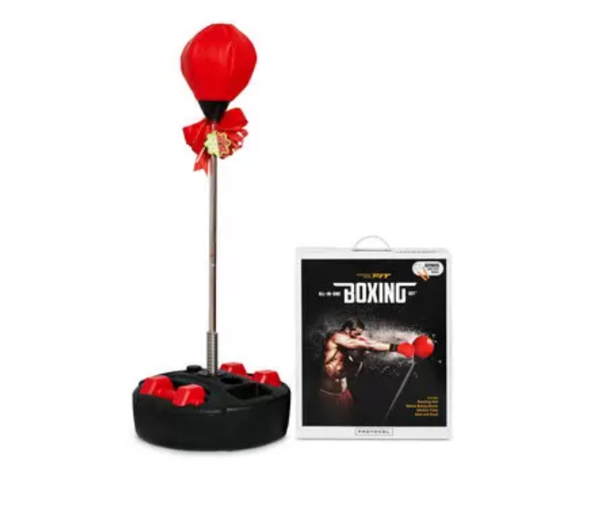 Protocol Boxing Set with Gloves and Jump Rope