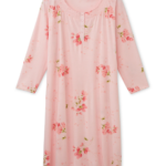Northern Reflections Printed Nightshirt with Smocked Neckline