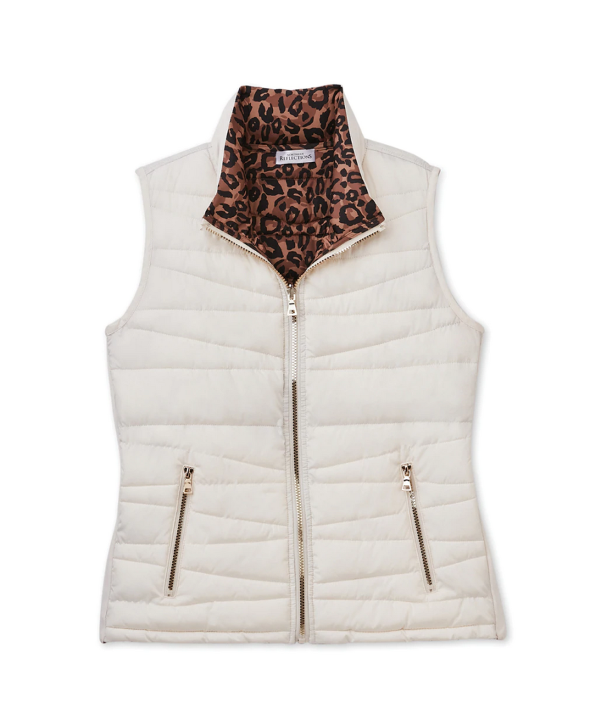 Reversable Quilted Puffer Vest