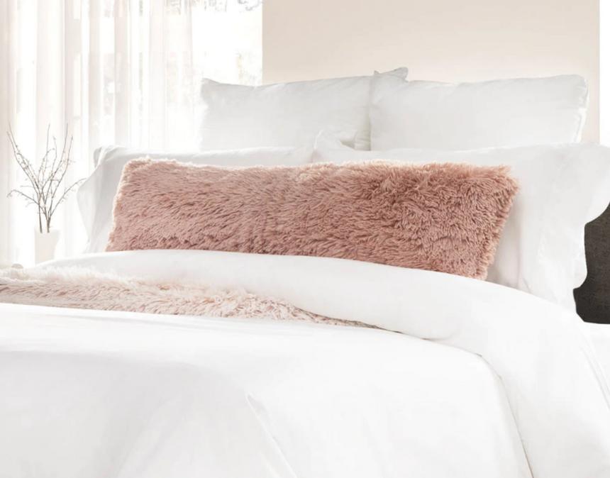 Frosty Lumbar Pillow Camellia