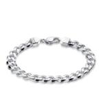 Michael Hill Men's Curb Bracelet in Sterling Silver