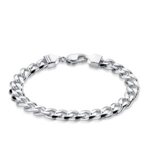 Men's Curb Bracelet in Sterling Silver