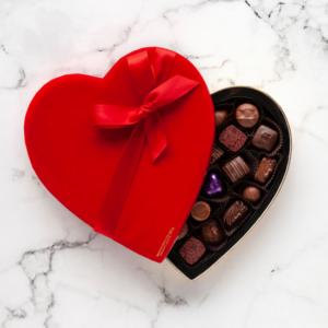 Milk & Dark Chocolate Heart Box