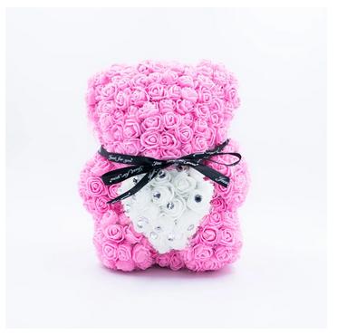 Ever-After Gemstone Rose Petal Bear