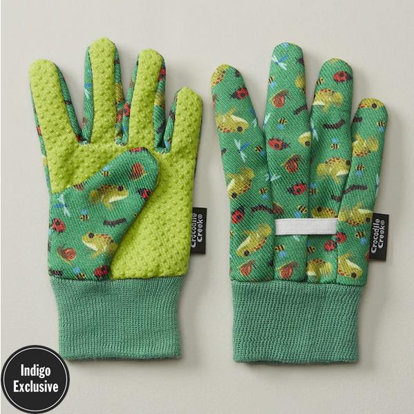Crocodile Creek Gardening Frog & Ladybug Gloves