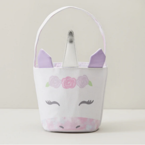 Oliver Smith & Co. Unicorn Canvas Easter Tote