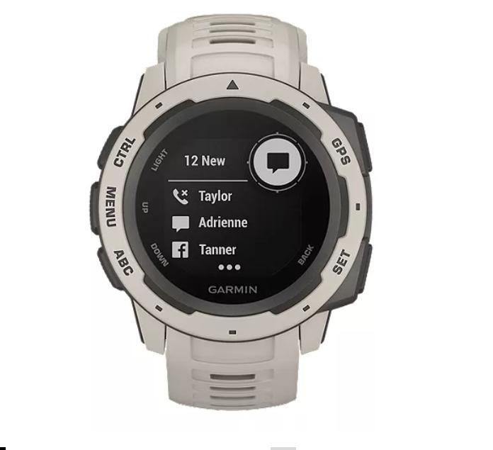 Garmin Instinct Rugged Outdoor GPS Watch Tundra
