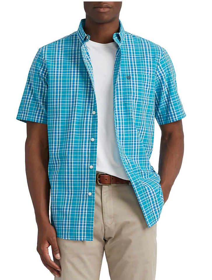 Chaps Easy Care Short Sleeve Button-Down Shirt