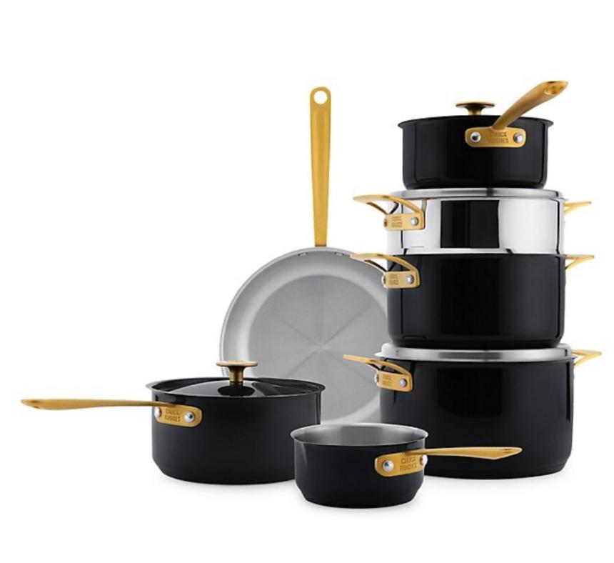 Chuck Hughes Black Crab Stainless Steel 11-Piece Cookware Set
