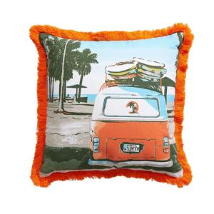 Distinctly Home Beach Vibe Cotton Canvas Patio Cushion