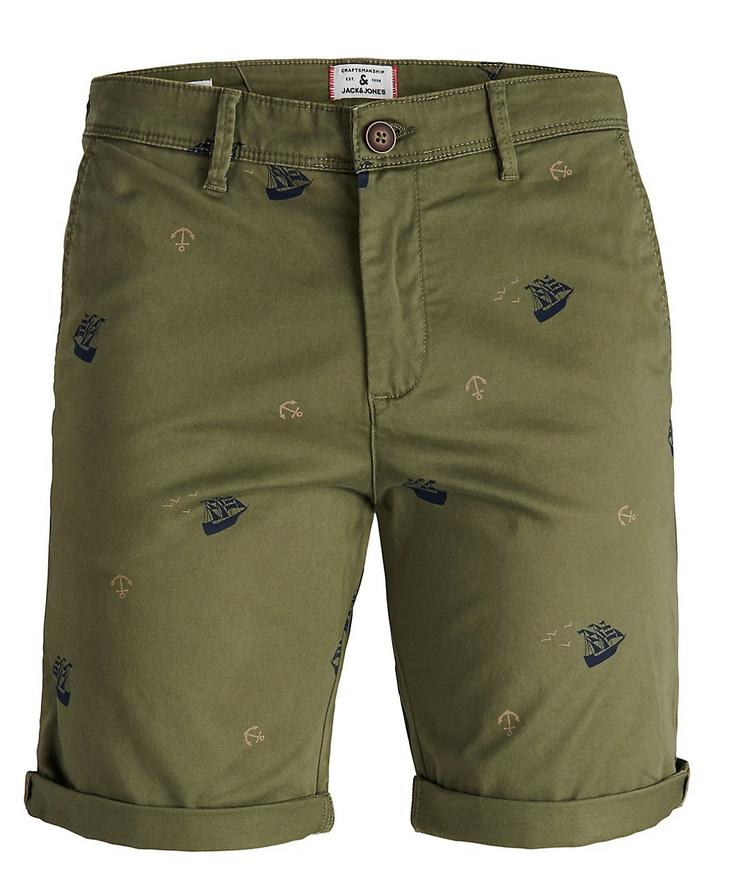 Jack & Jones Men's Botanical-Print Stretch Cotton Shorts