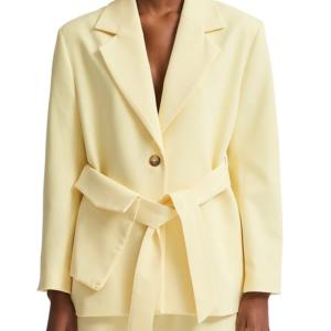 Selected Femme – Belted Twill Blazer