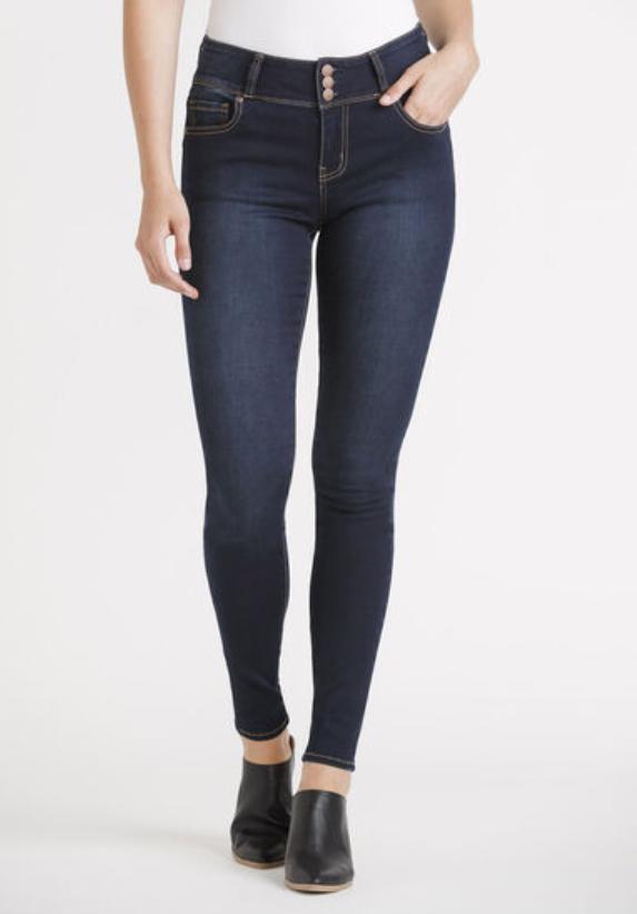 3 button Waist Skinny Jean