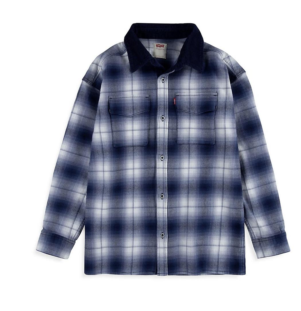 Levi's Boy's Long Sleeve Stretch Cotton Shirt Jacket