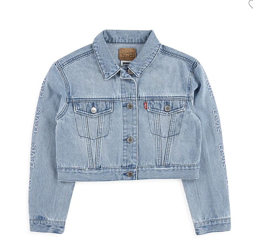 Levi's Girls 710 Cropped Oversized Jacket