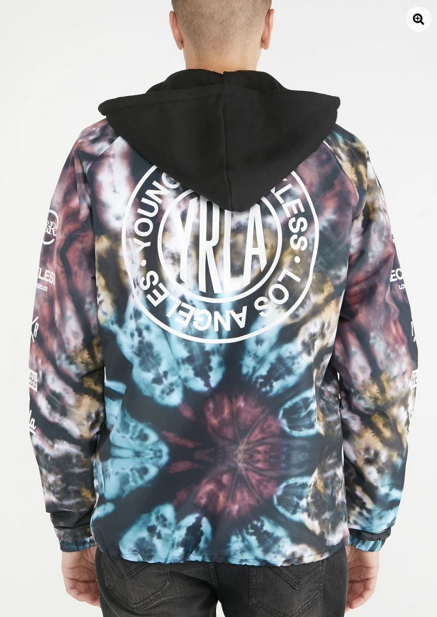 Young & Reckless Mens Tie-Dye Jacket