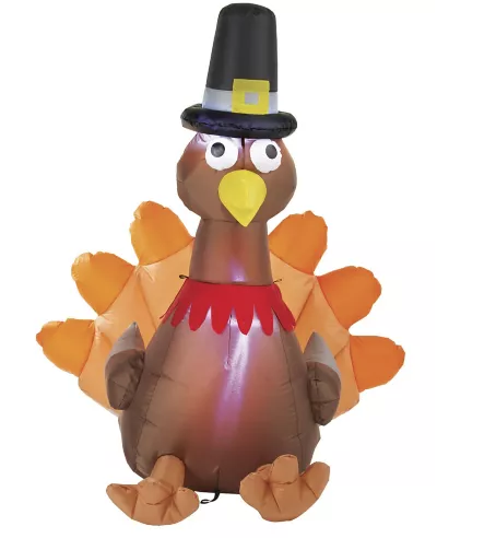 Inflatable Lawn Turkey 4′