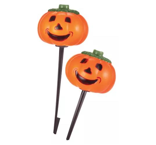 Pre-Lit Pumpkin Stake Lights 10pack