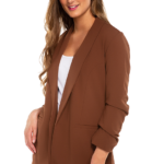 Eclipse Blazer with Ruched Sleeves