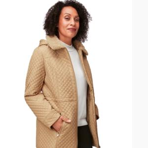 Faux Fur Collar Jacket with Hood